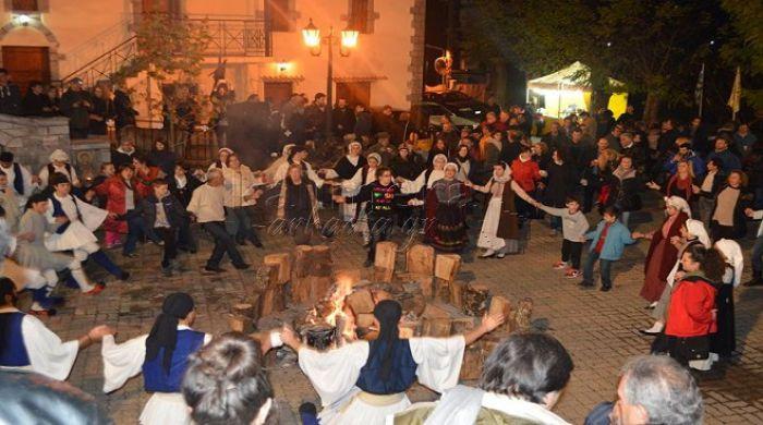 Κόσμος, χορός και κέφι στην 8η γιορτή χειμώνα στην Αλωνίσταινα (vd)!