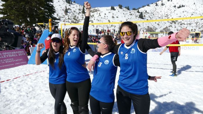 Snow volley στο Μαίναλο | Πρωταθλήτριες Ελλάδας οι Μεθενίτη/Τριανταφυλλίδη/Πάικου/Μαρώση