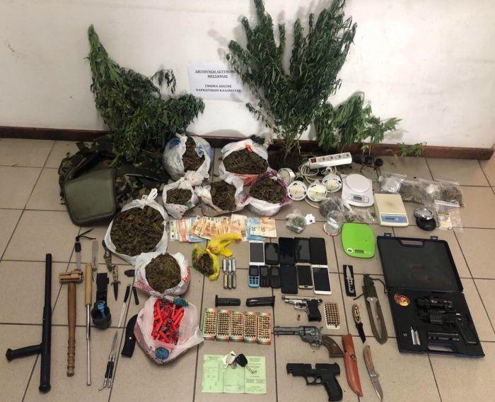 Εγκληματικό δίκτυο διακινούσε και καλλιέργουσε ναρκωτικά σε Αθήνα, Κορινθία και Μεσσηνία