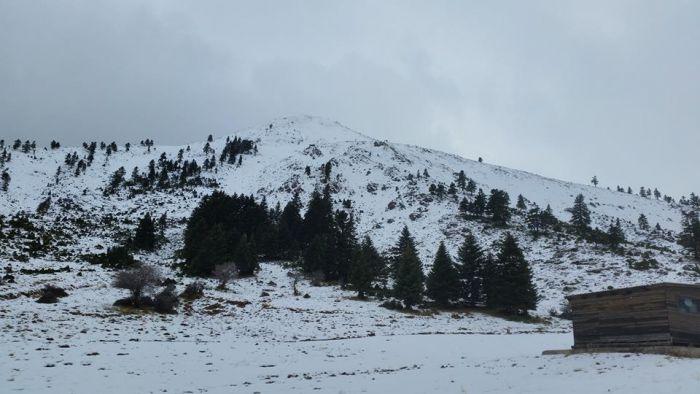 Καλάβρυτα - Πρώτα χιόνια και στο Χιονοδρομικό Κέντρο (εικόνες)